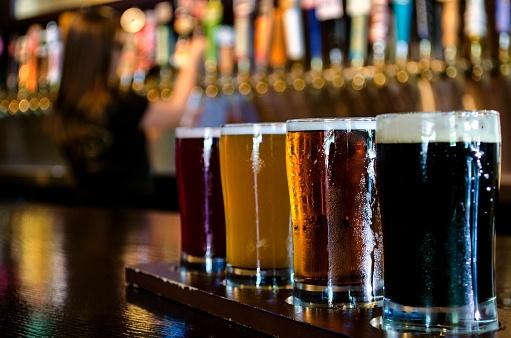 Wedding Reception Food Idea: Craft Beer Bar