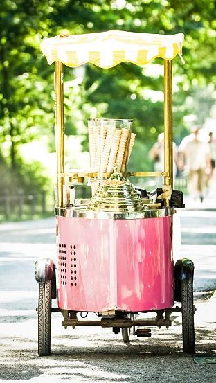 Wedding Reception Food Idea: Ice Cream Cart